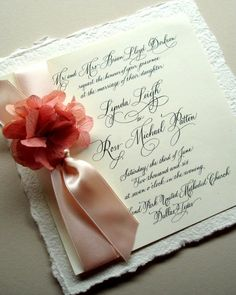wedding invitation with flower
