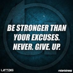 In order to beat records, you must first beat your excuses. #startstrong