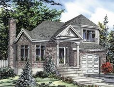 House Plan 48242 - European Style House Plan with 1340 Sq Ft, 3 Bed, 2 Bath, 1 Car Garage Custom Home Designs, Custom Homes, Architectural Designs For Houses, Affordable House Plans, Small House Design, Small House Plans, Building Plans, My Dream Home, Architecture Design