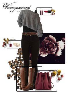 """Autumnal Plum and Caramel"" by vanaynayreed ❤ liked on Polyvore featuring Ashley Woodson Bailey, Arteriors, Miss Selfridge, Bed|Stu, Bandolino, Sophie Hulme, Eddie Borgo and Essie"