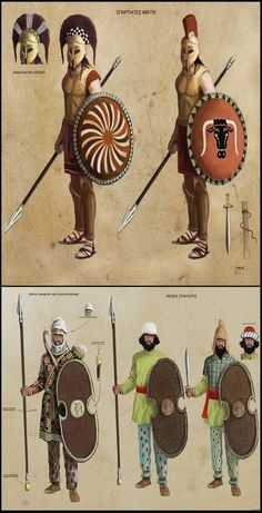 The Spartans and Persians at Thermopylae Ancient Persian, Ancient Art, Ancient History, Persian Warrior, Greek Warrior, Greco Persian Wars, Character Concept, Character Design, Alexandre Le Grand
