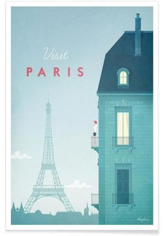 Paris als Premium Poster von Henry Rivers | JUNIQE