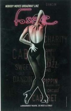 Poster for Broadway production of Fosse