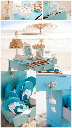 LOVE the idea of every guest getting a matching pair of flip flops to take down to the beach, from the cottage!!