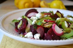 Roasted Beet and Goat Cheese Salad with Lemon Vinaigrette | Lifetime Moms