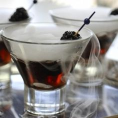 Scare Me On Fridays: 31 Day Of Blavod 22: The Black Vodka Ghost Martini