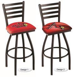 Illinois State Redbirds Ladder Back Bar Stool