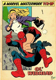Spidey and Gwen commission, lines by Paul Smith Marvel Comic Universe, Marvel Comic Books, Comic Movies, Comics Universe, Marvel Art, Marvel Heroes, Comic Books Art, Comic Art, Book Art