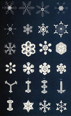 snowflakes vintage diagram