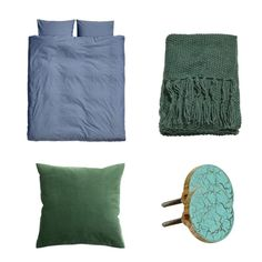 schlafzimmer_blau_gruen Cozy Bedroom, Room Paint Colors, Blue Green, Textiles, Homes, Deco, Good Ideas