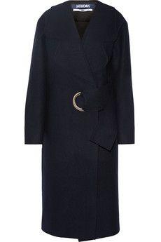 Jacquemus Oversized belted wool-felt coat   NET-A-PORTER