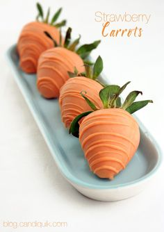 Carrot Chocolate Strawberries - @MissCandiQuik