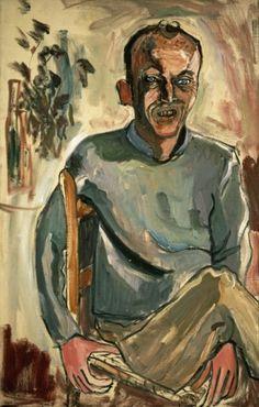 Alice Neel        b. 1900 - d. 1984            Frank O'Hara no 2  1960