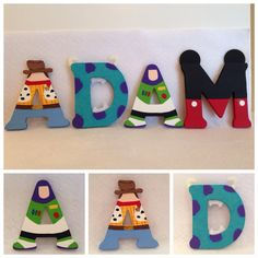 3 Inch Wood Character Letters Ninja Turtles by IMadeThisCrafts
