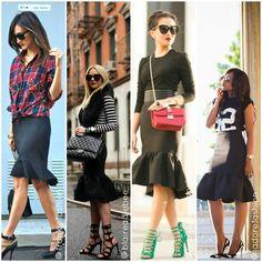Get the Trumpet Midi Skirt trend at Social Butterfly House! #rufflehemskirt #peplumskirt #trumpetskirt #midiskirt #pencilskirt #fashionbloggers #wendyslookbook