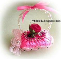 A Ribbon Soap Basket