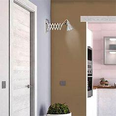 Aplique 1 luz negro, cuero viejo y opal KARLOFF - Leroy Merlin Mantra, Naha, Merlin, Bathroom Medicine Cabinet, Tall Cabinet Storage, Bathtub, Lights, Furniture, Home Decor