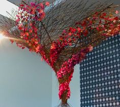 Ceiling display in entry, Bouquets to Art, de Young Museum, San Francisco