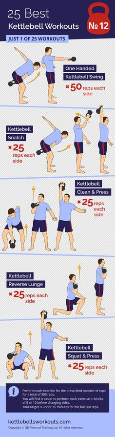 The 300 classic kettlebell workout challenge. Perform each exercise for the prescribed number of reps for a total of 300 reps. You will find it easier to perform each kettlebell exercise in blocks of 5 or 10 before changing sides. Your target is under 15 minutes for the full 300 reps. #kettlebell #challenge