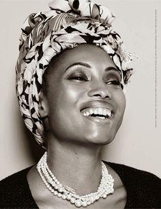 Be Magazine April 2014: Singer/Model Imany Mladjao