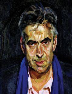Lucian Freud's portrait of Gayford, Man with a Blue Scarf, 2004.