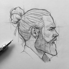 Stunning cross hatching sketches by ! 👏 All of them are incredible, that you surely wanna try this technique ! Cool Art Drawings, Pencil Art Drawings, Art Drawings Sketches, Drawing Ideas, Arte Sketchbook, Face Sketch, Portrait Sketches, Anatomy Drawing, Drawing Drawing