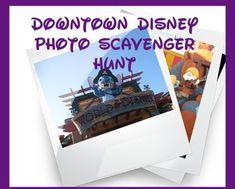 Downtown Disney Printable Photo scavenger hunt
