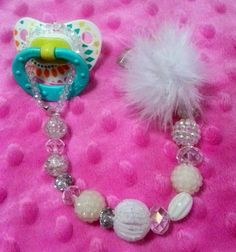 Beaded Pacifier Clip