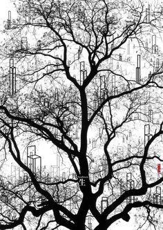 Symbiosis, by Freeman Lau Siu Hong, Hong Kong Winner: Bronze Medal (Category A) poster no: 104