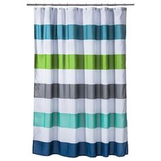 Circo® Cool Rugby Stripes Shower Curtain...of course they don't sell it in stores (online only) only because I need this now!