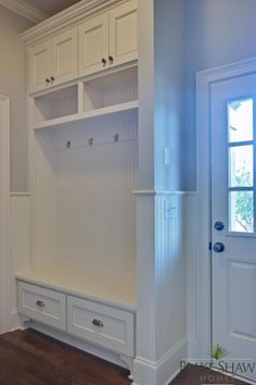 Shook Hill mud room-add a padded seat cushion and it would be perfect!