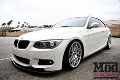Carbon Fiber Front Lip Spoiler for BMW Kerscher Style for Bumper E92 335i, Bmw 328i, Bmw M3, Bmw Range, Bmw Sports Car, Vw Fox, Car Lettering, Buy Bmw, Bmw Performance