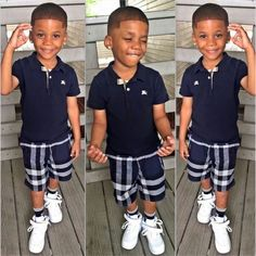 Black Baby Boys, Cute Black Babies, Beautiful Black Babies, Cute Little Boys, Baby Boy Swag, Kid Swag, Cute Baby Boy, Cute Baby Clothes, Toddler Boy Fashion