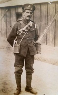 WW-I-British-RPPC-Fully-Equipped-Royal-Field-Artillery-Gunner-in-Bexhill-on-Sea