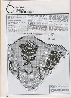 View album on Yandex. Crochet Placemats, Crochet Doilies, Crochet Flowers, Crochet Round, Crochet Home, Love Crochet, Cross Stitch Love, Cross Stitch Flowers, Cross Stitch Patterns