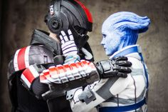 Liara and commander Shepard cosplay by ChrixDesign on deviantART