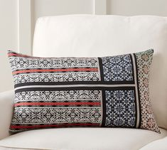 Theodora Scarf Print Lumbar Pillow Cover | Pottery Barn