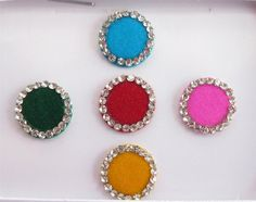 Big Round color Bindis In One Pack Stud With by Beauteshoppe
