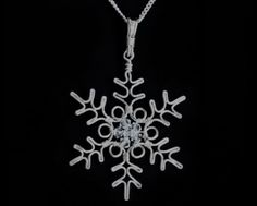 Amazing Wire Wrapped Snowflake Pendant Tutorial ~ The Beading Gem's Journal