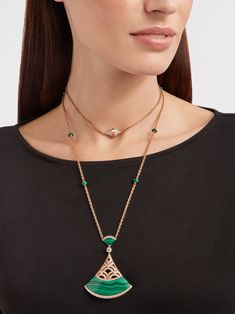 Pendant Set, Diamond Pendant, Pendant Necklace, Rose Gold Chain, Turquoise Necklace, Diamonds, Green, Jewelry, Malachite