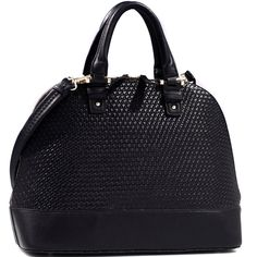Raise your fashion status with this zip-around woven handbag. With tasteful…