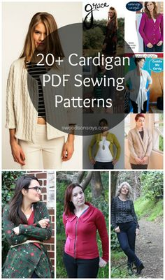 20+ PDF Sewing Patterns for Cardigans - sew for yourself this Fall! There are some coupon codes too, if you read and shop before Sunday 8/30 :)