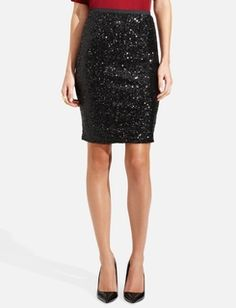 This makes me giddy . . .   Sequin Pencil Skirt  The Limited.