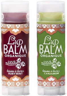 LuLu Organics | Organic Lip Balm - pretty packaging and nice website.