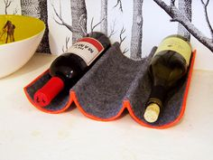 Mailing Tube Wine Rack