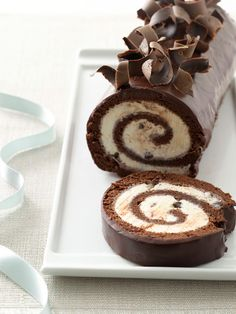 This chocolate cake may look fancy - but inside it's just a good old ice cream cake. Description from pinterest.com. I searched for this on bing.com/images