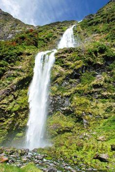 Sutherland Falls in Nieuw-Zeeland