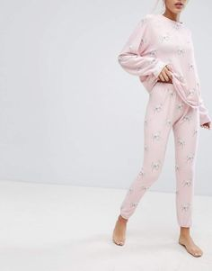 417a80535ce7 Wildfox Couture Unicorn Print Lounge Jogger Jogger Sweatpants, Unicorn  Print, Mode Online, Wildfox