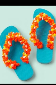 Sandals made from water balloons