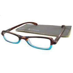 My first reading glasses: Colette Turquoise, $16.50, now featured on Fab.